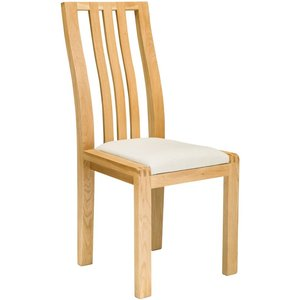 Ercol Bosco Oak Dining Chair With Cream Fabric Seat
