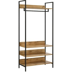 Timber Art Design Uk Essentials Zahra Oak Open Wardrobe, Zahra Oak