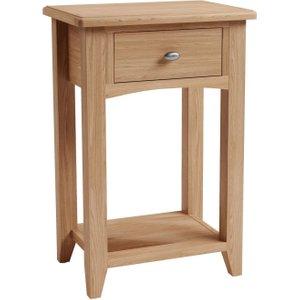 Scuttle Interiors Eva Light Oak Telephone Table, Light Oak