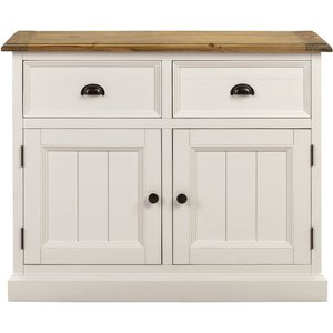 Indian Furniture Company Farmhouse Painted 2 Door Sideboard