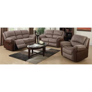 Annaghmore Farnham Fusion Taupe And Tan Recliner Sofa Suite, Taupe and Tan