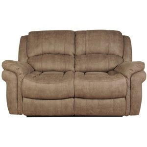 Annaghmore Farnham Taupe Leather 2 Seater Recliner Sofa, Taupe