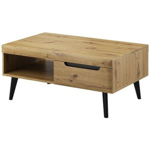 Arte Nova Fernwood Oak Coffee Table, Oak Artisan and Black