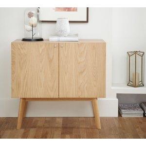 Serene Furnishings Finchley Oak Small Sideboard, Oak