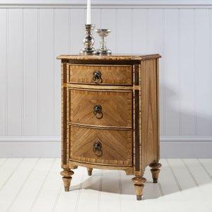 Frank Hudson Spire 3 Drawer Bedside Cabinet - Walnut, Walnut