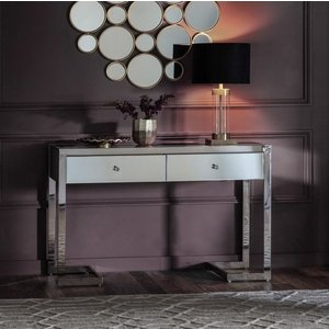 Gallery Direct Gallery Cutler 2 Drawer Mirrored Console Table