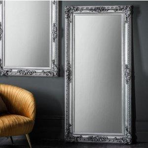 Gallery Direct Altori Silver Leaner Rectangular Mirror - 83cm X 170cm, Silver