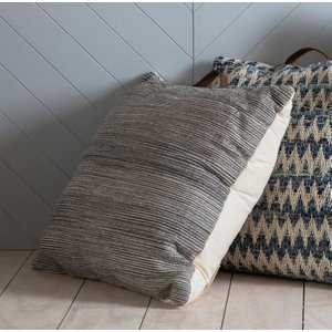 Gallery Direct Amaga Floor Cushion (set Of 2) - Black 75cm X 75cm, Black