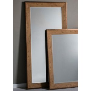 Gallery Direct Barrington Leaner Rectangular Mirror - Oak 79.5cm X 156cm, Oak with Bronze