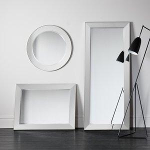 Gallery Direct Bertoni Silver Rectangular Mirror - 81cm X 106.5cm, Silver
