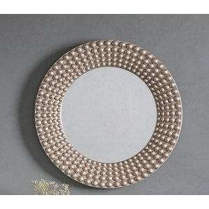 Gallery Direct Cascade Round Mirror - Silver 91cm X 91cm, Silver