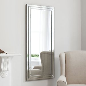 Gallery Direct Chambery Leaner Rectangular Mirror - Pewter 68.5cm X 155cm, Pewter