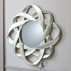 Gallery Direct Constellation Round Mirror - Silver 98cm X 98cm, Silver