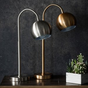 Gallery Direct Dallas Table Lamp - Brushed Nickle