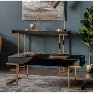 Gallery Direct Delray Black Mirrored Coffee Table