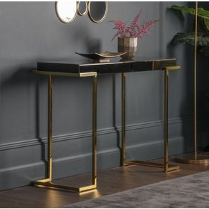 Gallery Direct Delray Black Mirrored Console Table