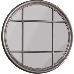 Gallery Direct Eccleston Round Mirror - Silver 100cm X 100cm, Silver