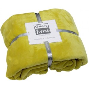 Gallery Direct Flannel Fleece Throw - Chartreuse, Chartreuse