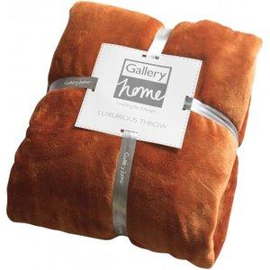 Gallery Direct Flannel Fleece Throw - Chilli, Chilli