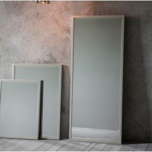 Gallery Direct Floyd Leaner Rectangular Mirror - 60cm X 150cm, Pewter and Champagne Gold