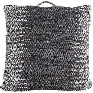 Gallery Direct Garcia Floor Cushion (set Of 2) - Charcoal 75cm X 75cm, Charcoal