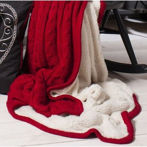 Gallery Direct Glencoe Throw - Red, Red
