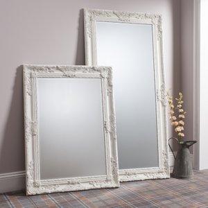 Gallery Direct Hampshire Cream Rectangular Mirror - 84cm X 114.5cm, Cream