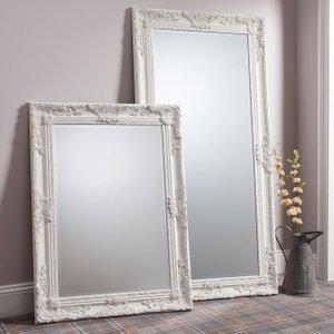 Gallery Direct Hampshire Leaner Rectangular Mirror - Cream 84cm X 170cm, Matt Cream