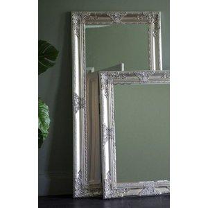 Gallery Direct Hampshire Leaner Rectangular Mirror - Bright Silver 83cm X 169cm, Bright Silver