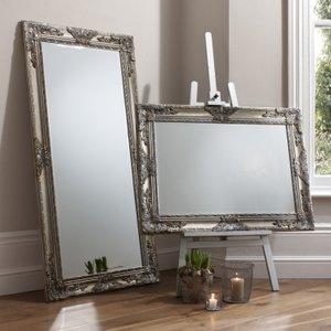 Gallery Direct Hampshire Silver Rectangular Mirror - 84cm X 114.5cm, Silver