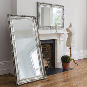Gallery Direct Harro Leaner Rectangular Mirror - Silver 85cm X 171.5cm, Silver