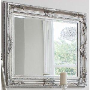 Gallery Direct Harro Silver Rectangular Mirror - 85cm X 115.5cm, Silver