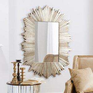 Gallery Direct Herzfeld Rectangular Mirror - 93cm X 127cm, Gold