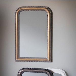 Gallery Direct Hyde Verdigree Gold Rectangular Mirror - 56cm X 84cm, Gold
