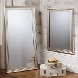 Gallery Direct Jackson Leaner Rectangular Mirror - Silver 76cm X 155cm, Bright Silver