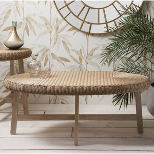 Gallery Direct Kew Chunky Oval Coffee Table - Natural