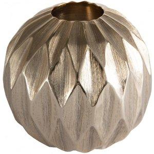 Gallery Direct Kingsley Diamond Ball Large Tealight Holder - Gold, Gold