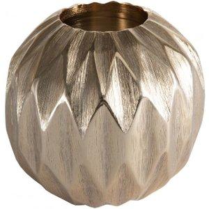 Gallery Direct Kingsley Diamond Ball Medium Tealight Holder - Gold, Gold
