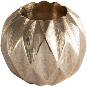 Gallery Direct Kingsley Diamond Ball Small Tealight Holder - Gold, Gold
