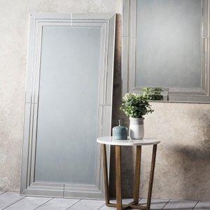 Gallery Direct Knapton Leaner Rectangular Mirror - 78cm X 162cm, Black