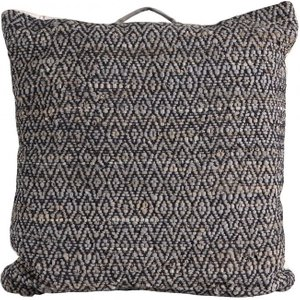 Gallery Direct Kodava Floor Cushion (set Of 2) - Black 75cm X 75cm, Black