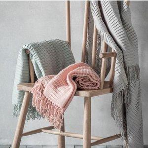 Gallery Direct Linear Pleat Throw - Blush, Blush