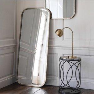 Gallery Direct Logan Leaner Rectangular Mirror - Champagne 65.5cm X 156.5cm, Distressed Champagne