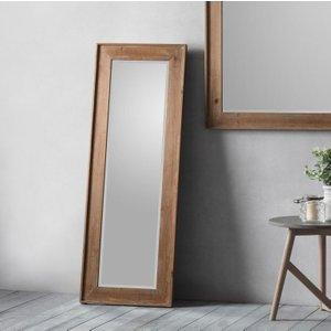 Gallery Direct Morgan Long Rectangular Mirror - Brown 50cm X 140cm, Brown