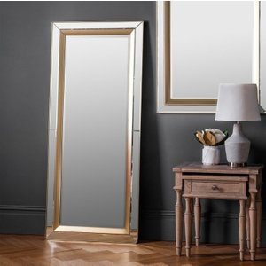 Gallery Direct Phantom Gold Leaner Rectangular Mirror - 69cm X 158cm, Gold