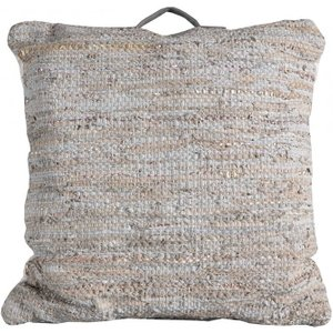 Gallery Direct Pluto Floor Cushion (set Of 2) - Cream 75cm X 75cm, Cream