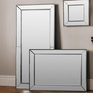 Gallery Direct Radley Leaner Rectangular Mirror - Silver 79.5cm X 165.5cm, Silver