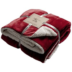 Gallery Direct Sherpa Throw - Red, Red