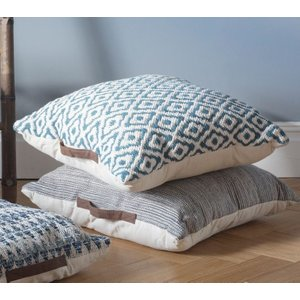 Gallery Direct Sigtuna Floor Cushion (set Of 2) - Teal 75cm X 75cm