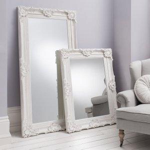 Gallery Direct Stretton Leaner Rectangular Mirror - White 88cm X 177cm, Matt White